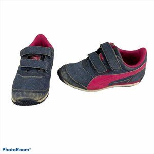PUMA Blue Pink Sparkle Sneakers